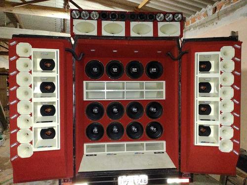 caixarias e instalação de som caretinha xarorros e reboque