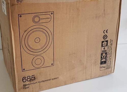 caixas bowers & wilkins 685 series 600 - novas c/nota fiscal