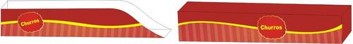 caixas caixinhas embalagem churros 5000u c tampa 1000u
