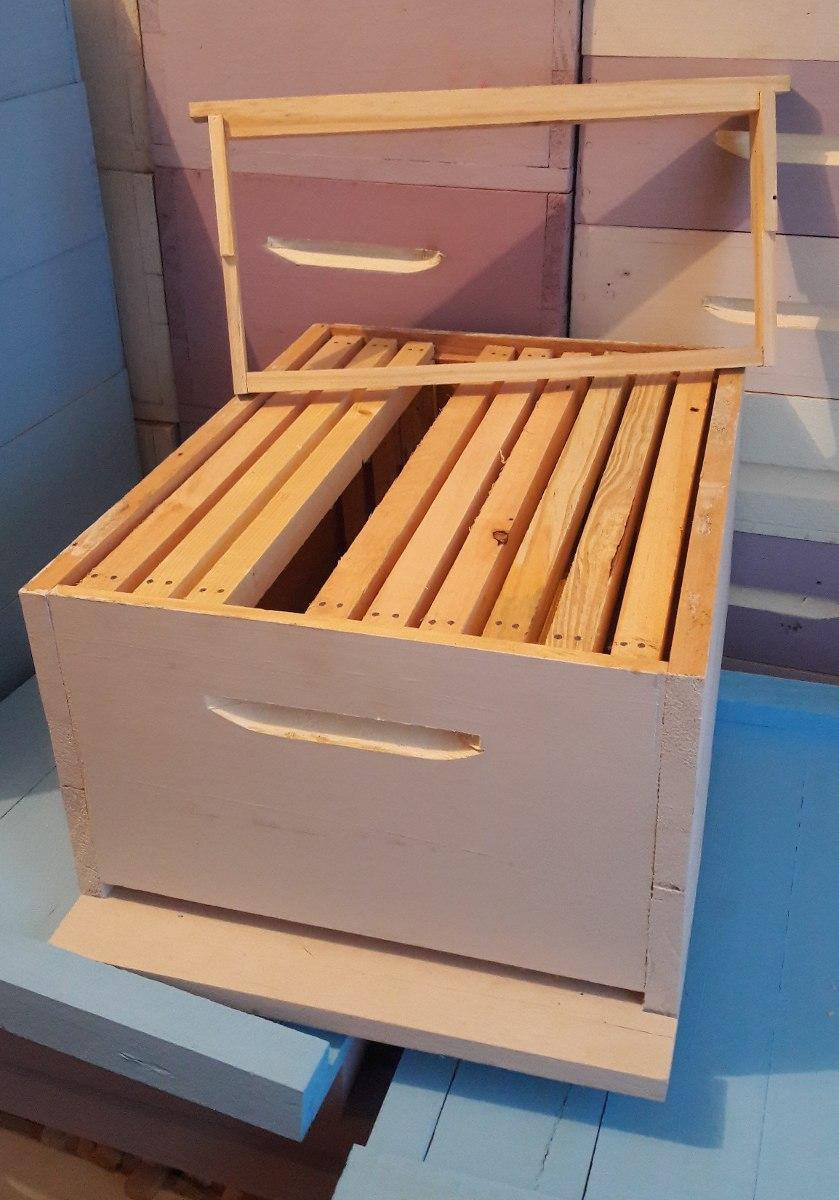 Caixas De Abelhas Ninho Completa Com Quadros - R$ 80,00 em