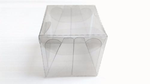 caixas de  acetato  5x5x5 para sabonetes biscuit 50 caixinha