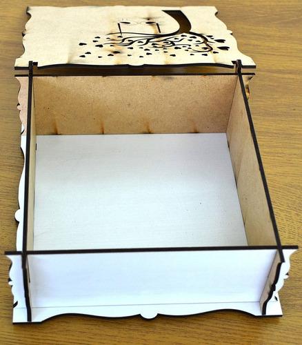 caixas de casamento lembrancinha mdf - 12 unidades