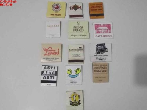 caixas de fósforos - 13  restaurantes internacionais  - l6