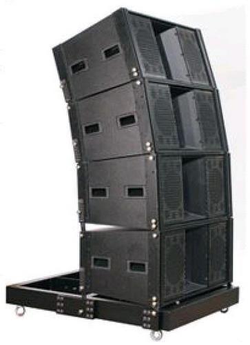 caixas  de som incluindo projetos line array +texturização