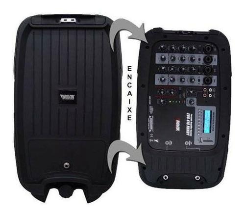 caixas de som + mesa + microfone + cabos = kit  novik evo410