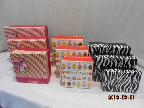caixas papelão 3 em 1 (6 conjuntostotal de 18un)