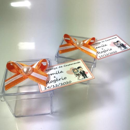 caixinha 4x4 para lembrancinhas ou docinhos com 100 laranja