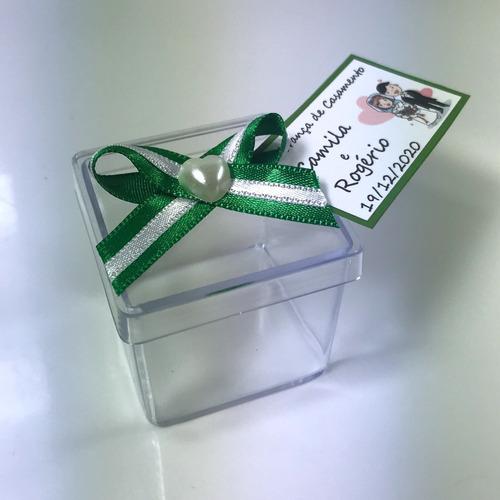 caixinha 4x4 para lembrancinhas ou docinhos kit 100 un verde