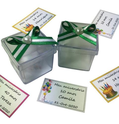 caixinha 4x4 para lembrancinhas ou docinhos kit 50 un verde