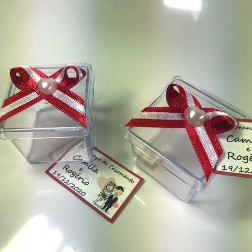 caixinha 4x4cm decorada lembrancinha ou docinhos kit com 50