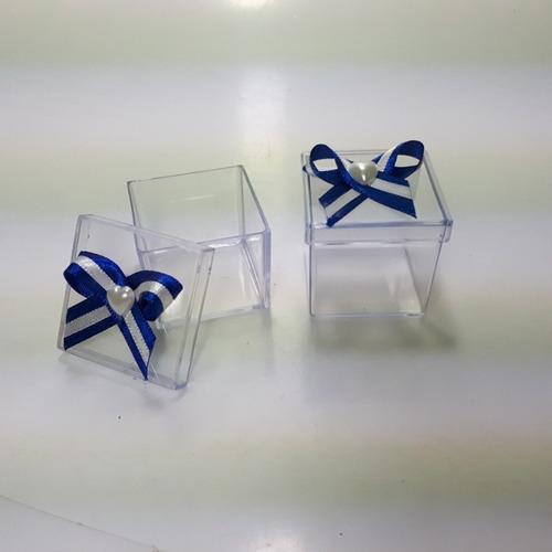 caixinha acrílica 4x4 decorada lembrancinha docinhos com 120