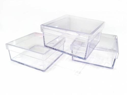 caixinha acrilica 7x7 cristal  10 unids