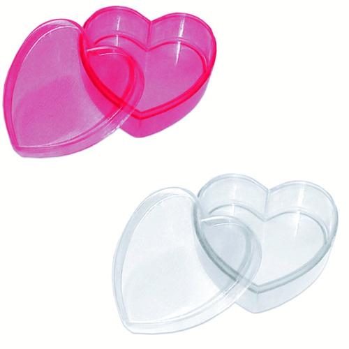 caixinha acrilica coração 100 unidades