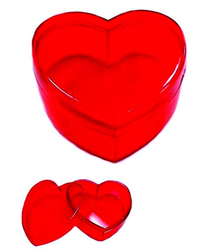 caixinha acrilica coração 100 unidades frete grátis