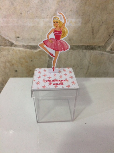 caixinha acrilico 3d barbie bailarina  3d