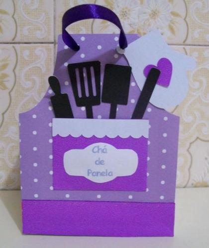 caixinha avental cozinha caixa arquivo para silhouette