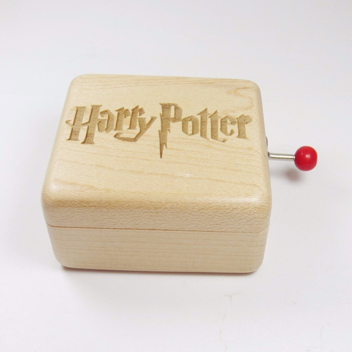 caixinha caixa de musica harry potter - hedwig's madeira