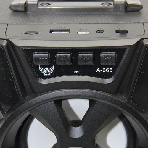caixinha caixa de som portátil bluetooth usb mp3 fm ltomex