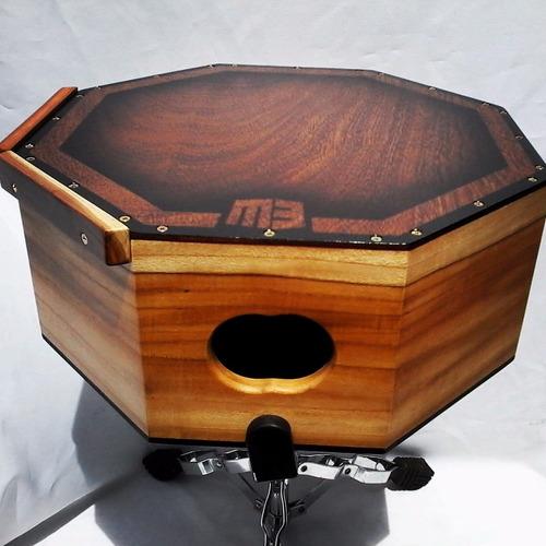 caixinha de repique hand made de madeira artesanal