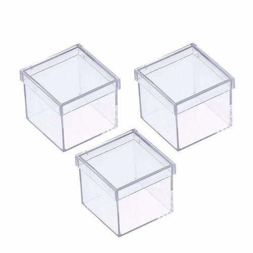 caixinha em acrilico 4x4 (60 unidades ) lembrancinhas
