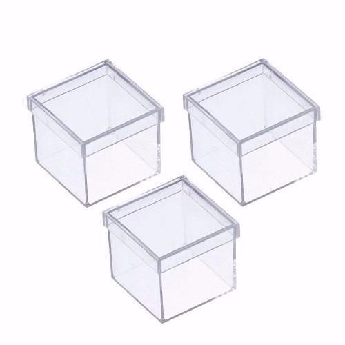 caixinha em acrílico 5x5 (20 unidades ) caixa lembrancinhas
