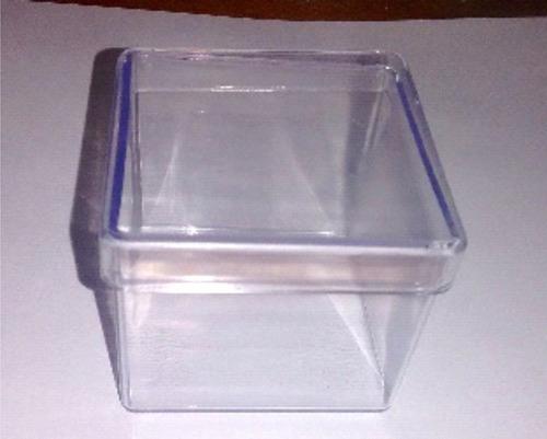 caixinha em acrílico 5x5 (250 unidades )caixa lembrancinhas