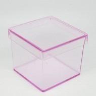 caixinha em acrilico 5x5 rosa e azul (20 unid) lembrancinhas
