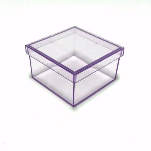 caixinha em acrílico 7x7 (40 unid) lembrancinhas
