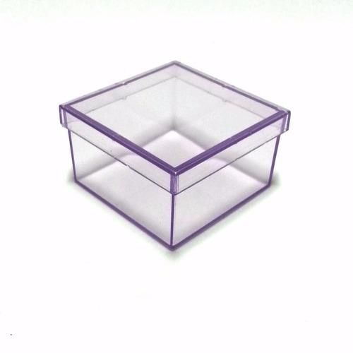 caixinha em acrílico 7x7 (60 unid) lembrancinhas