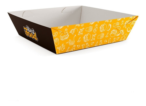 caixinha, embalagem cestinha food truck bandeja m (50un)