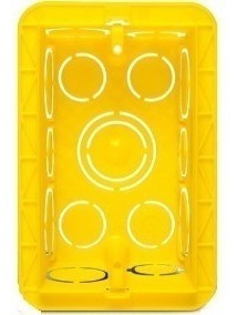 caixinha luz pvc amarela mondiale 4x2 c/60 cl20-10590