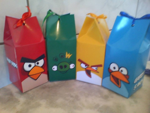 caixinha milk angry birds kit 10 peças