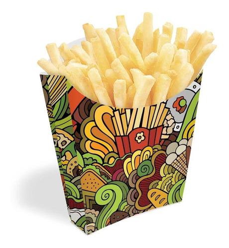 caixinha para batata frita várias cores 200un