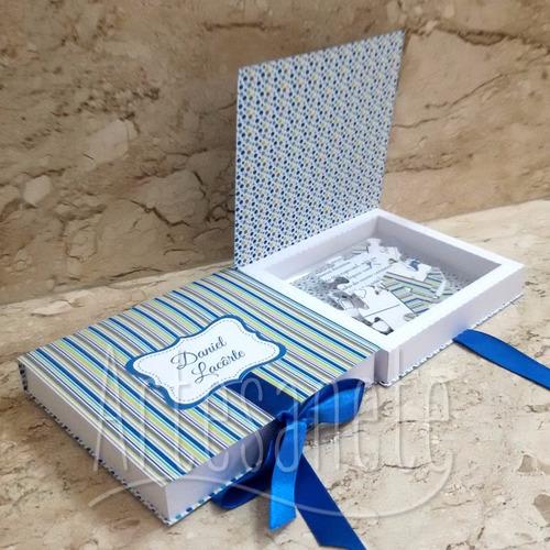 caixinha para convite com quebra-cabeça - 10 unidades