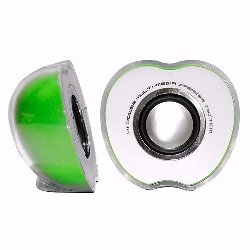 caixinha som para pc  notebook potente modelo maçã usb e p2