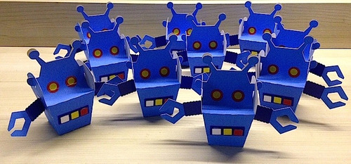 caixinha surpresa robô - 10 unid.