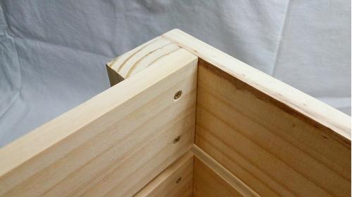 caixote de feira reto lixado madeira novo pinus