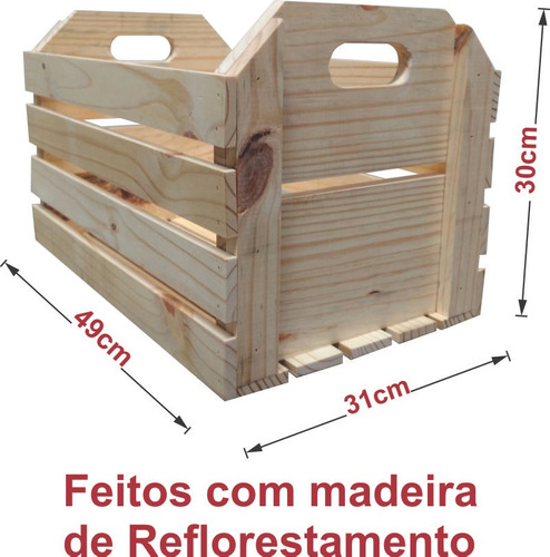 caixote de madeira, caixote de feira novo médio robusto