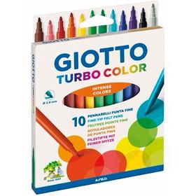 Caja 10 Marcadores Turbo Color Giotto Lavables No Toxicos