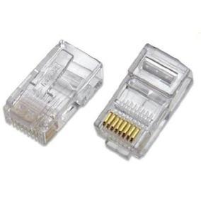 caja 100 conector rj45 utp cat 6 red camaras pc 8694