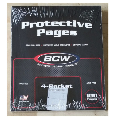 caja 100 hojas para poner billetes bcw 4 bill x pag sin pvc
