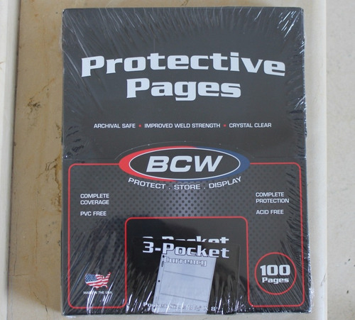 caja 100 hojas para poner billetes sin pvc bcw 3 bill x pag