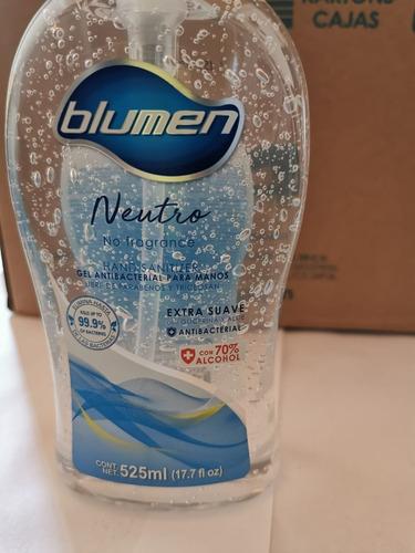 caja 12 gel antibacterial blumen 525ml original 70% alcohol