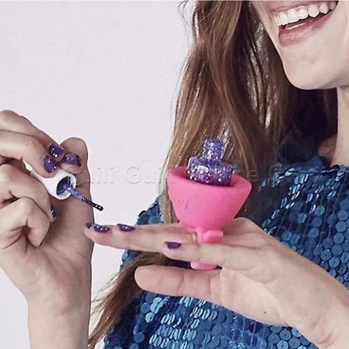caja 12 piezas base anillo silicón esmalte uñas tinta barniz