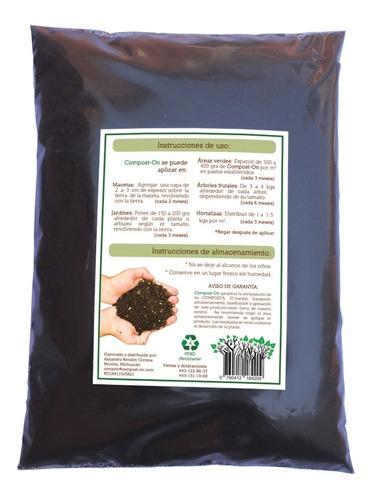 caja 20 pzs de 1 kg composta orgánica compost-on