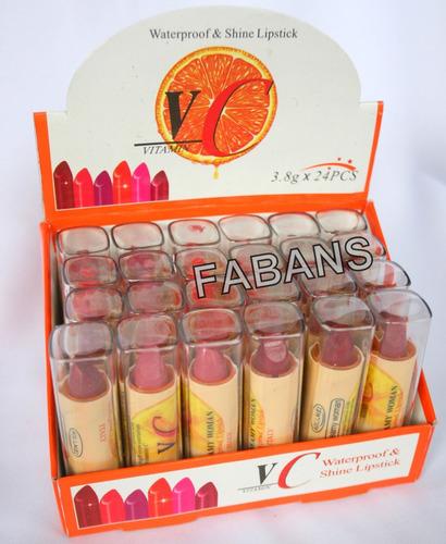 caja 24 labiales pintura labios maquillaje labial al mayor