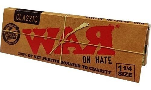 caja 24 packs raw classic war on hate 1¼ papel para liar