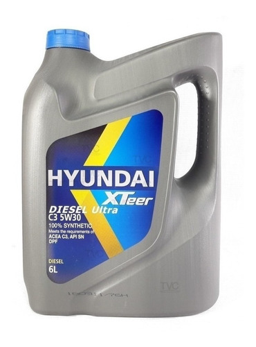caja  3 aceite motor hyundai xteer 5w30 100% sintetico 6 lt