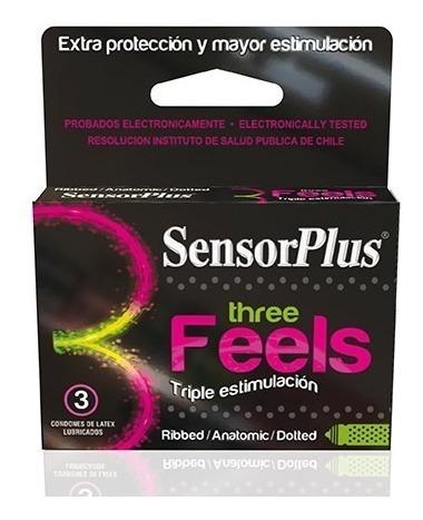 caja  3 condones three feals sensor plus sexshop concepcion