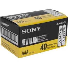 Caja 40 Pila Zinc Carbon Sony Aaa New Ultra Super Heavy Duty